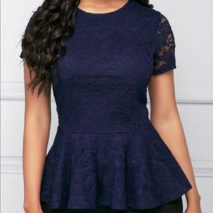 INC International Concepts Tops - INC Lace Peplum Top